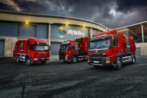 Remiks AS Avfallshåndtering viser frem søppelbilene sine
