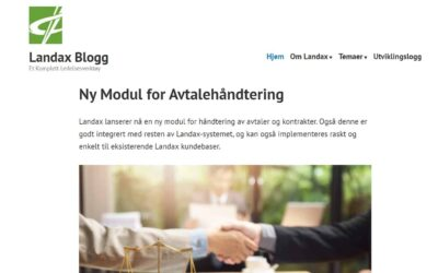 Landax Blogg overview frontpage