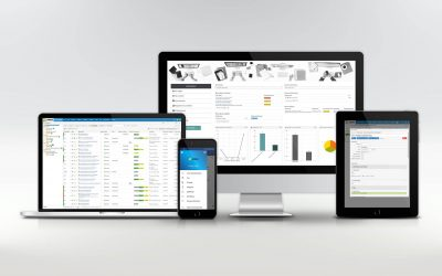 Mockup of Landax showing all devices